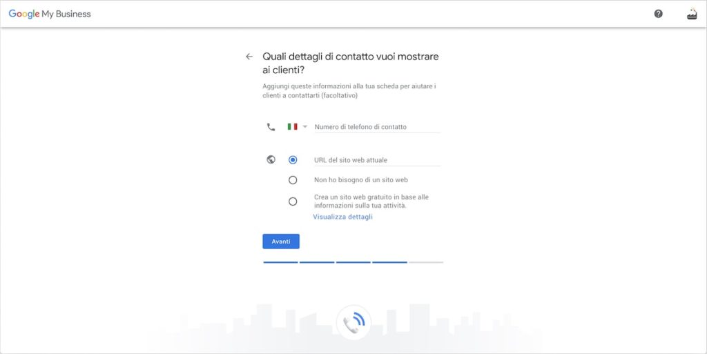 Contatti scheda Google My Business