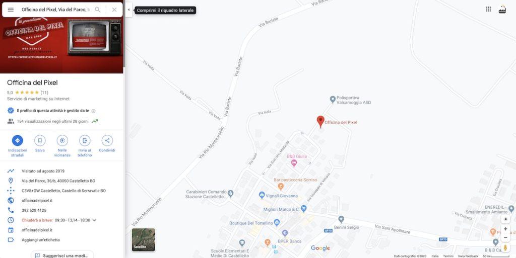 Google Maps - suggerisci una modifica