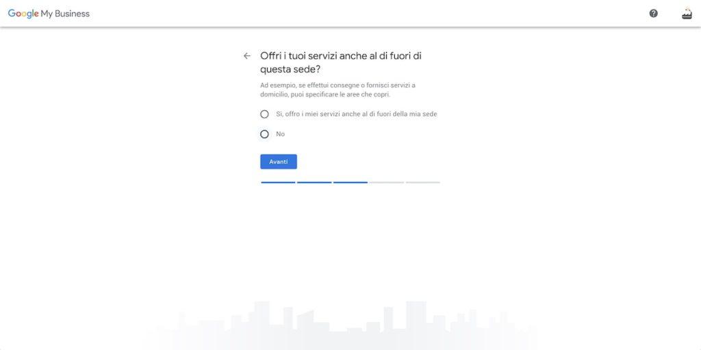 Servizi fuori sede Google My Business